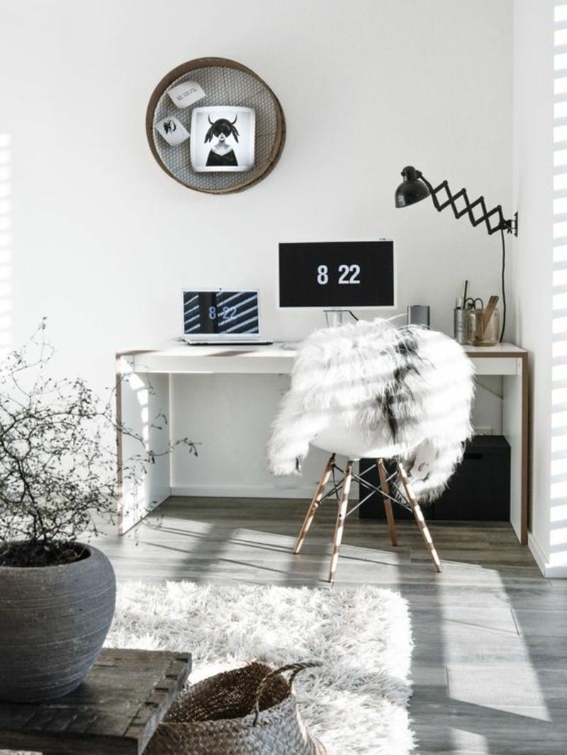 Wohnung skandinavisch einrichten Home Office Möbel