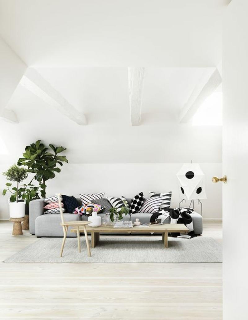Wohnung skandinavisch einrichten Wohnzimmer Sofa