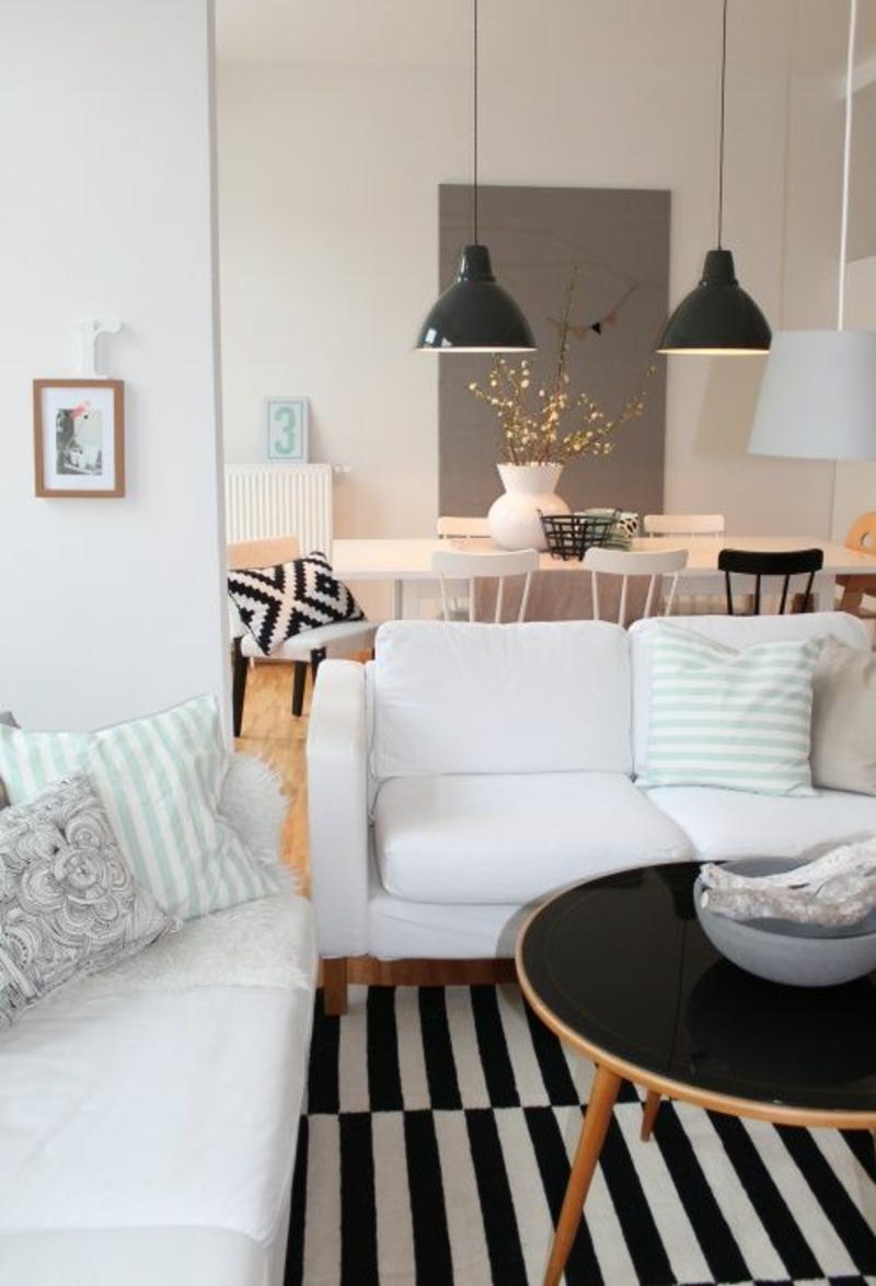 Wohnung skandinavisch einrichten offener Wohnplan