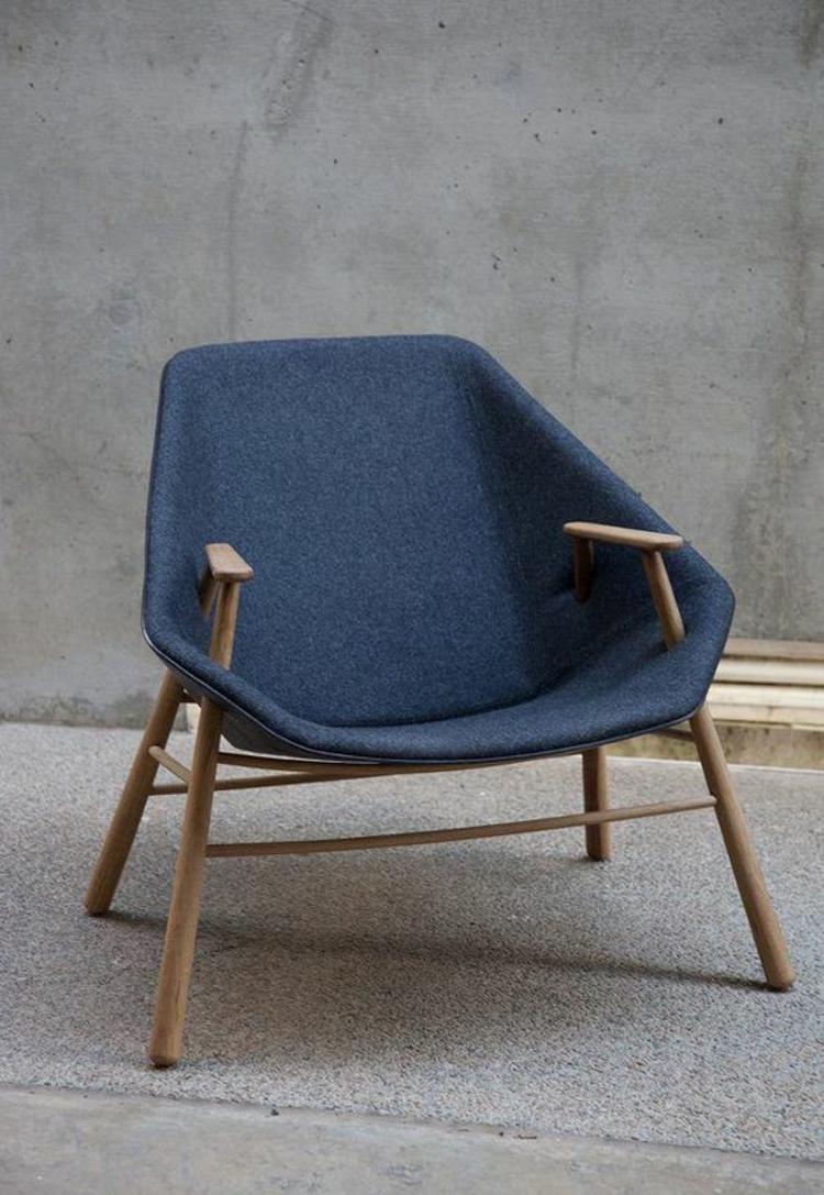 Wohnzimmerstühle ergonomischees Design Stühle Designer Sessel blau