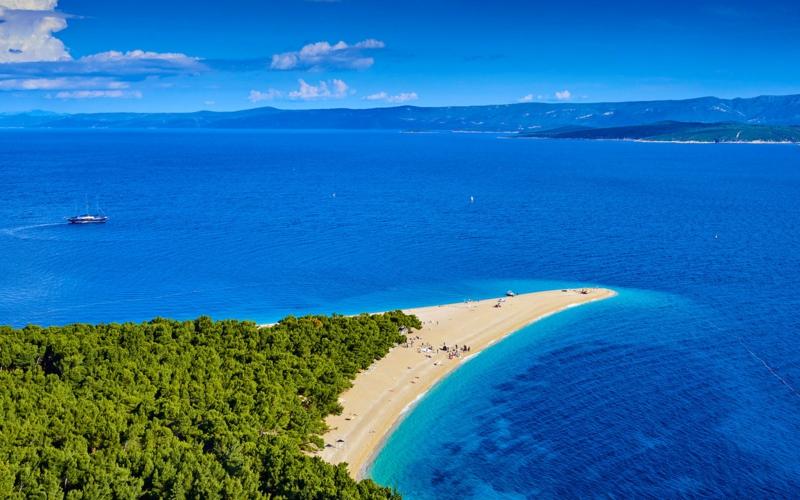Zlatni Rat Beach Brac Island Croatia die schönsten Strände der Welt