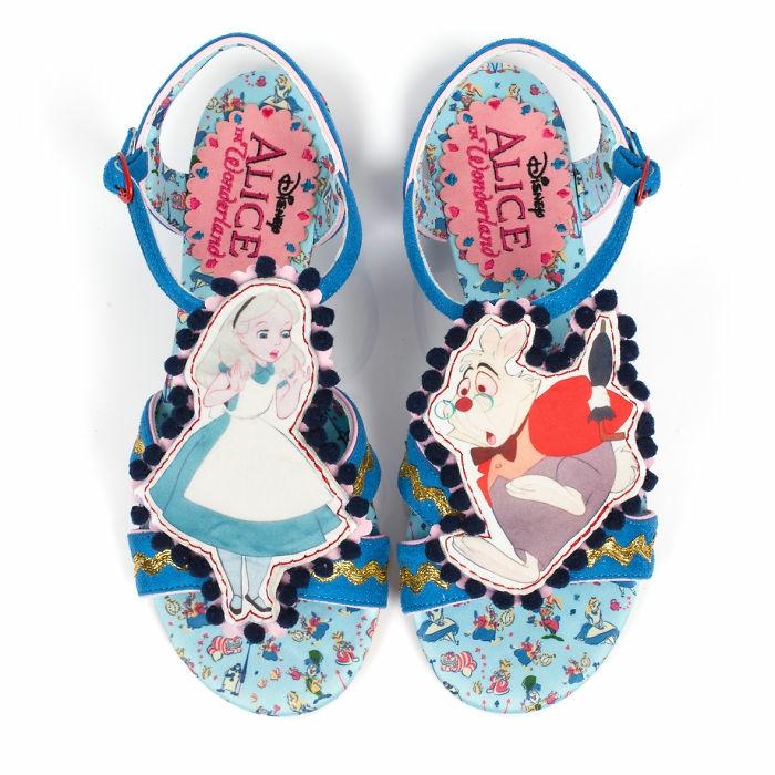 aktuelle modetrends dan sullivan alice in wonderland sandaletten