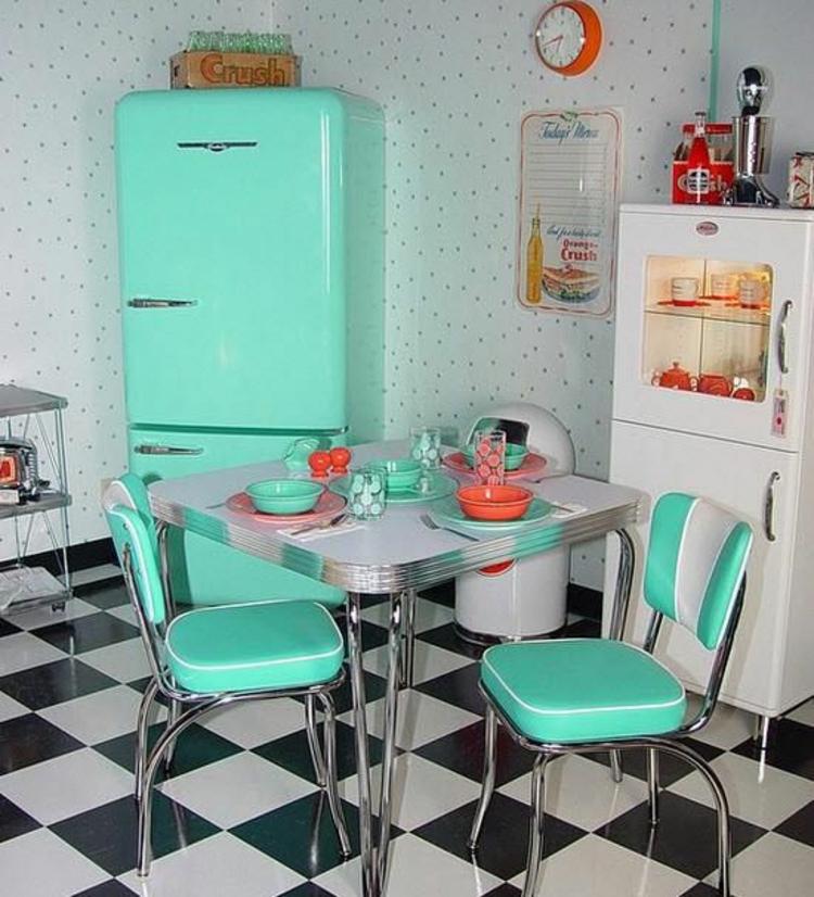 amerikanische Retro Kühlschränke Retro Küche einrichten