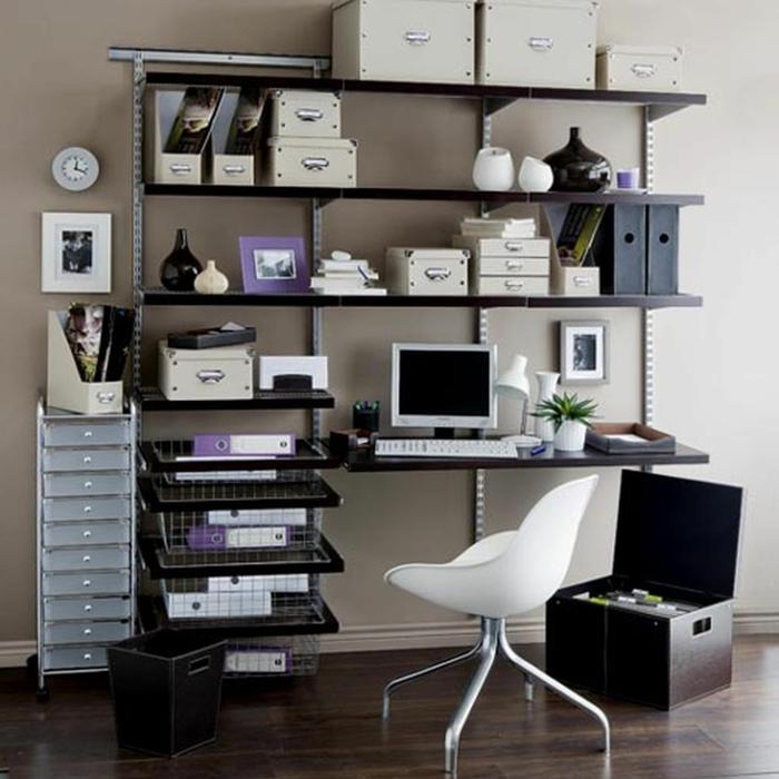 büroeinrichtungen ideen stauraum kleines office