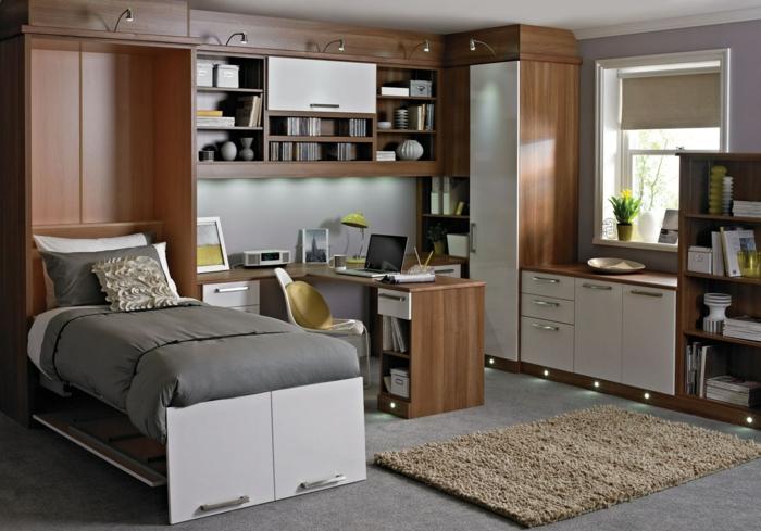 büroeinrichtungen kleines home office schlafzimmer einrichten