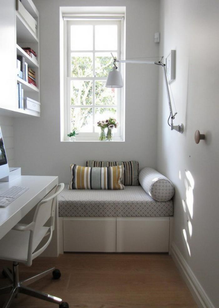 büroeinrichtungen kleines home office sitzbank regale