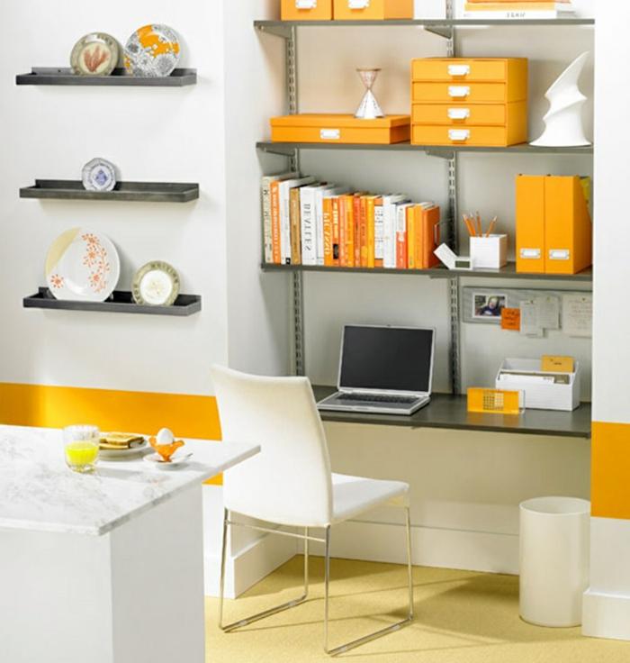 büroeinrichtungen kleines office einrichten wandregale