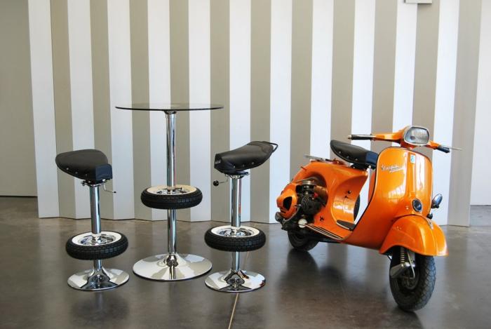 bürostuhl orange recycling ideen alte vespa motorroller