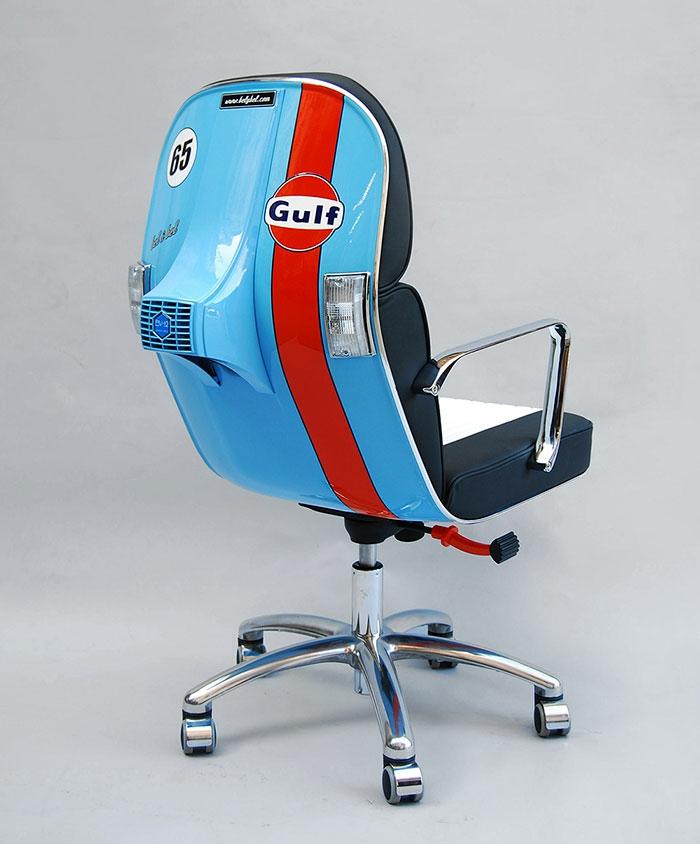 Coole Bürostühle recycling bürostuhl aus gebrauchten motorroller teilen
