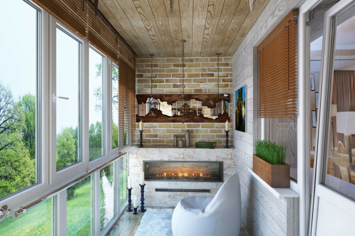 balkoneinrichtung terrassengestaltung ethanolkamine kerzenhalter sesssel
