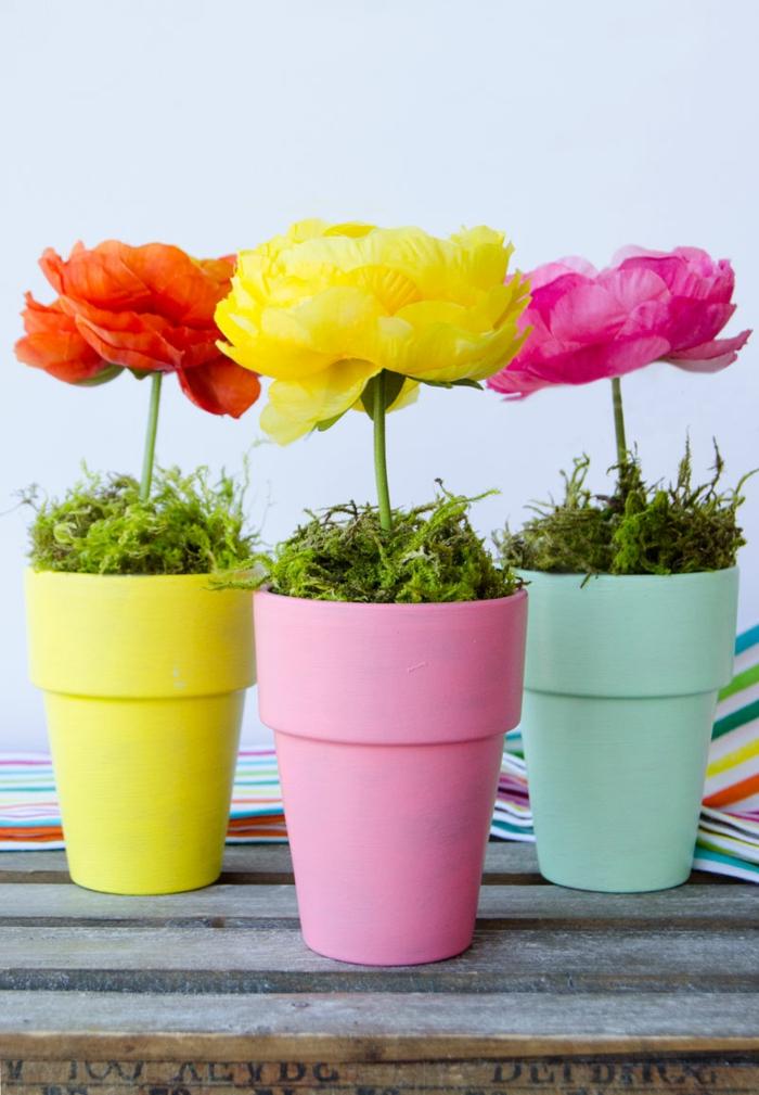1001 bastelideen fr hling welche sie zu neuer deko inspierieren - Vasi decorati fai da te ...