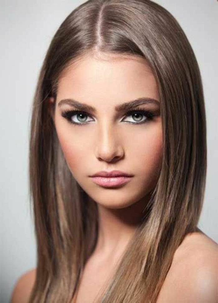 blondtöne dunkelblond glattes haar frisuren lifestyle