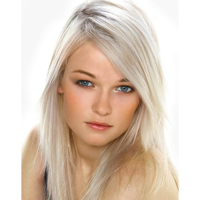 blondtöne hellblond damenfrisuren ideen