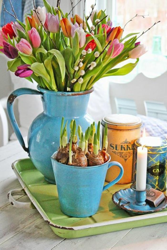 blumengestecke begonien gesteck bunt zwiebeln