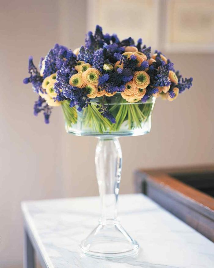 blumengestecke begonien ostergesteck frühling orange lila
