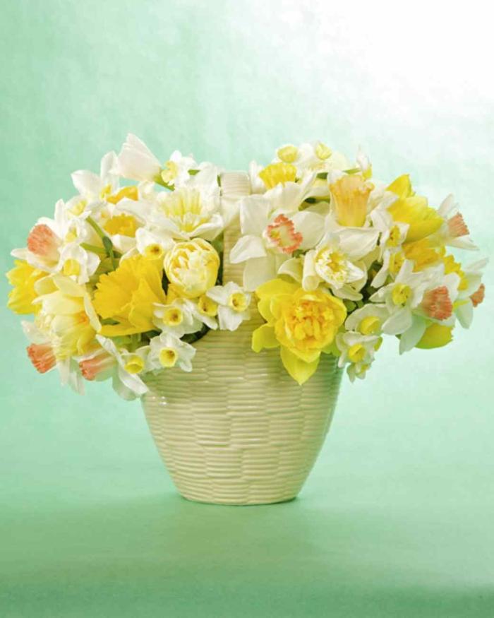 tischdeko begonien tulpen narzissen