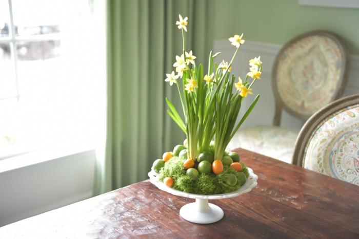 tischdeko grün stiefmütterchen frisch gepflückt