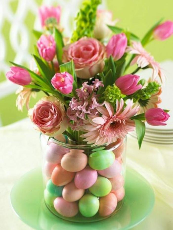 tulpen knospen tischdeko osterkranz türkranz eier