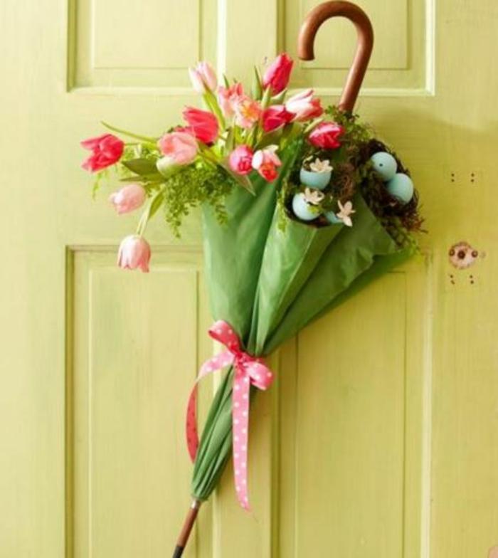 tulpen knospen tischdeko osterkranz türkranz klein