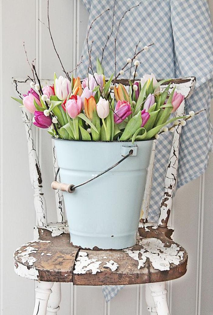 tulpen knospen tischdeko osterkranz türkranz tulpe