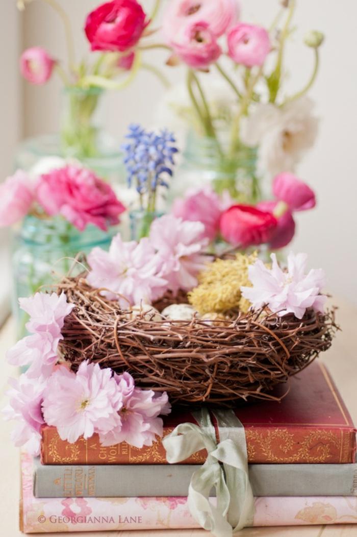 tulpen knospen tischdeko osterkranz tulpen lila