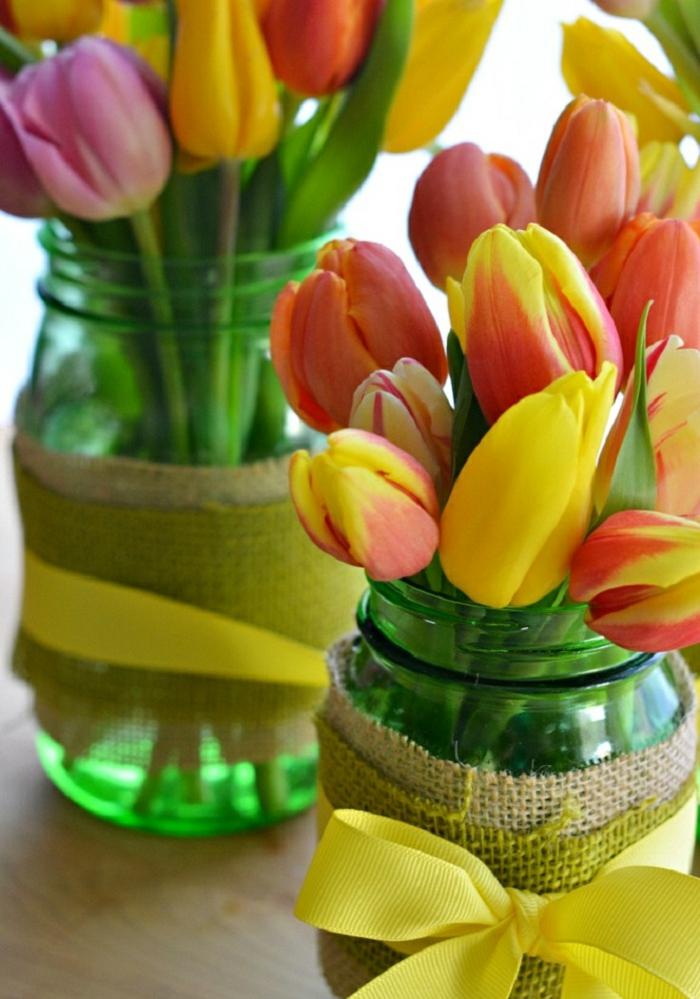 tulpen knospen tischdeko osterkranz tulpen rustikal