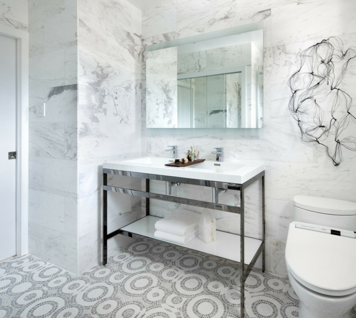 bodenbelag bad badideen kleines badezimmer helles interieur