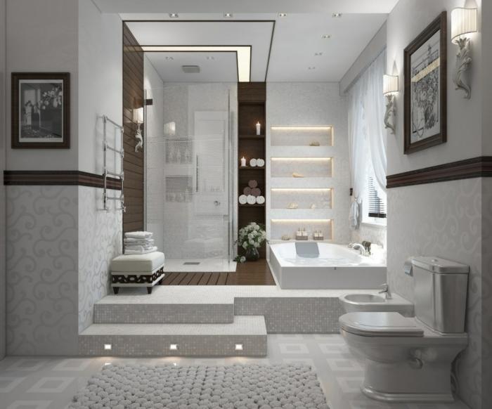 bodenbelag bad badleuchten wandregale led licht