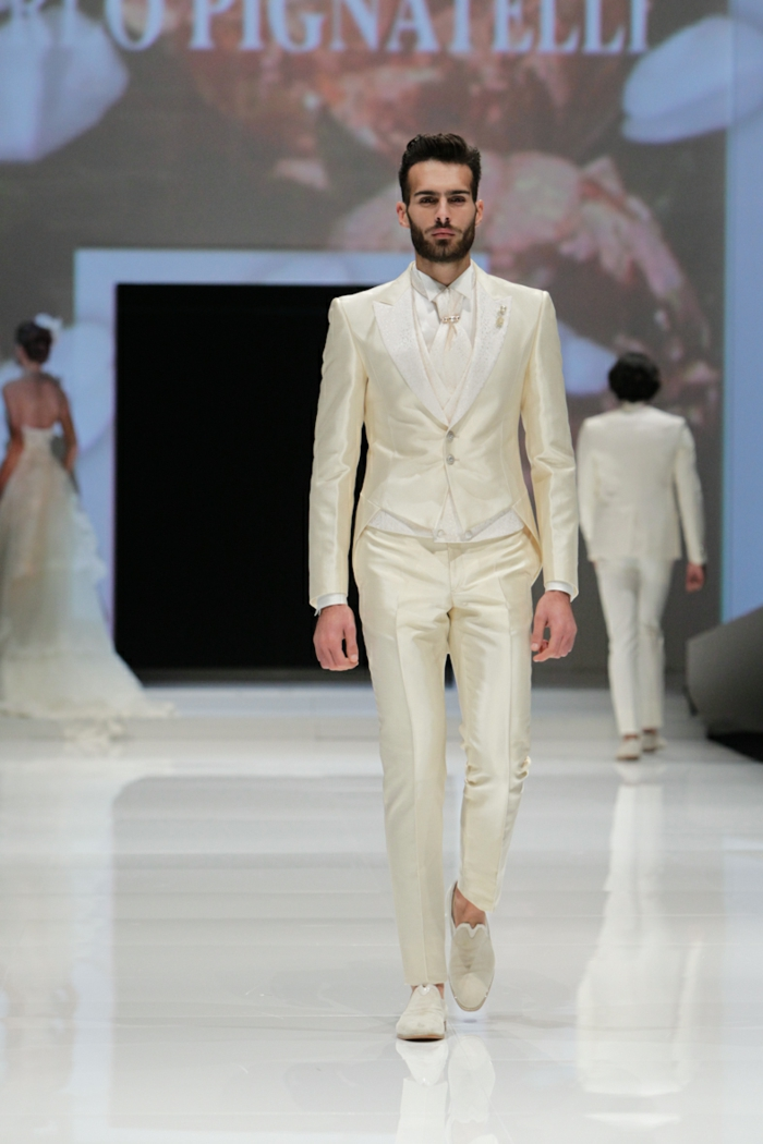 bräutigam mode creme weiß anzug haute couture 2016 kollektion carlo pignatelli