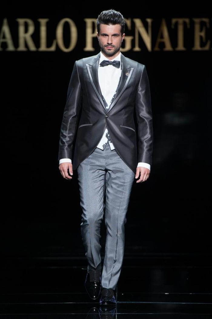 bräutigam mode grauer anzug satin haute couture 2016 carlo pignatelli