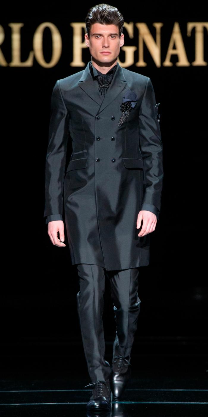 bräutigam mode schwarz haute couture kollektion 2016 carlo pignatelli
