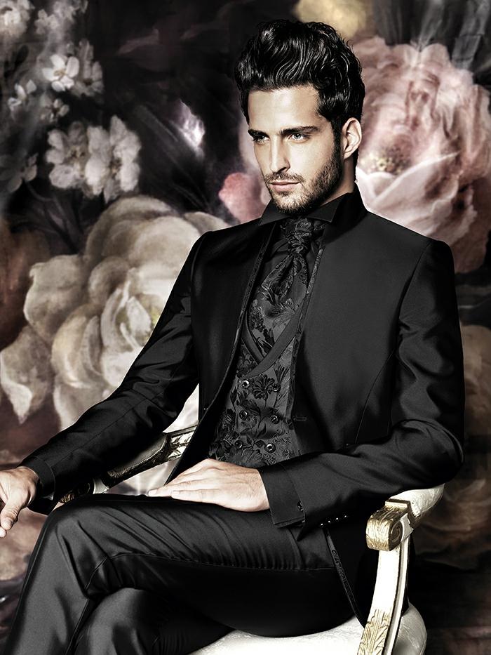 bräutigam mode schwarzer anzug haute couture carlo pignatelli 2016