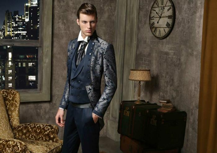 bräutigam mode vintage retro look haute couture männermode 2016 maestrami