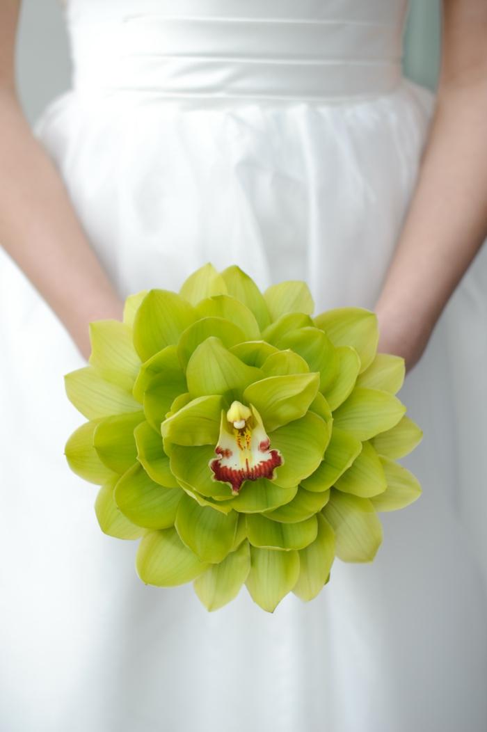 braut hochzeit gelbe orchidee blätter