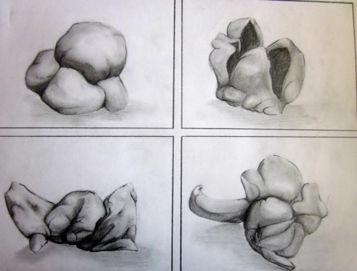 coole Zeichnungen zeichnen lernen übung popkorn