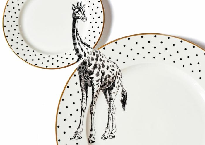 coole bastelideen tisch platten yvonne ellen giraffe punkte
