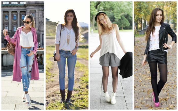 damenblusen tendenzen damenmode 2016 casual stil weiße oberteile