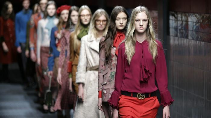 damenblusen tendenzen damenmode 2016 monochrome hemden rüschen haute couture