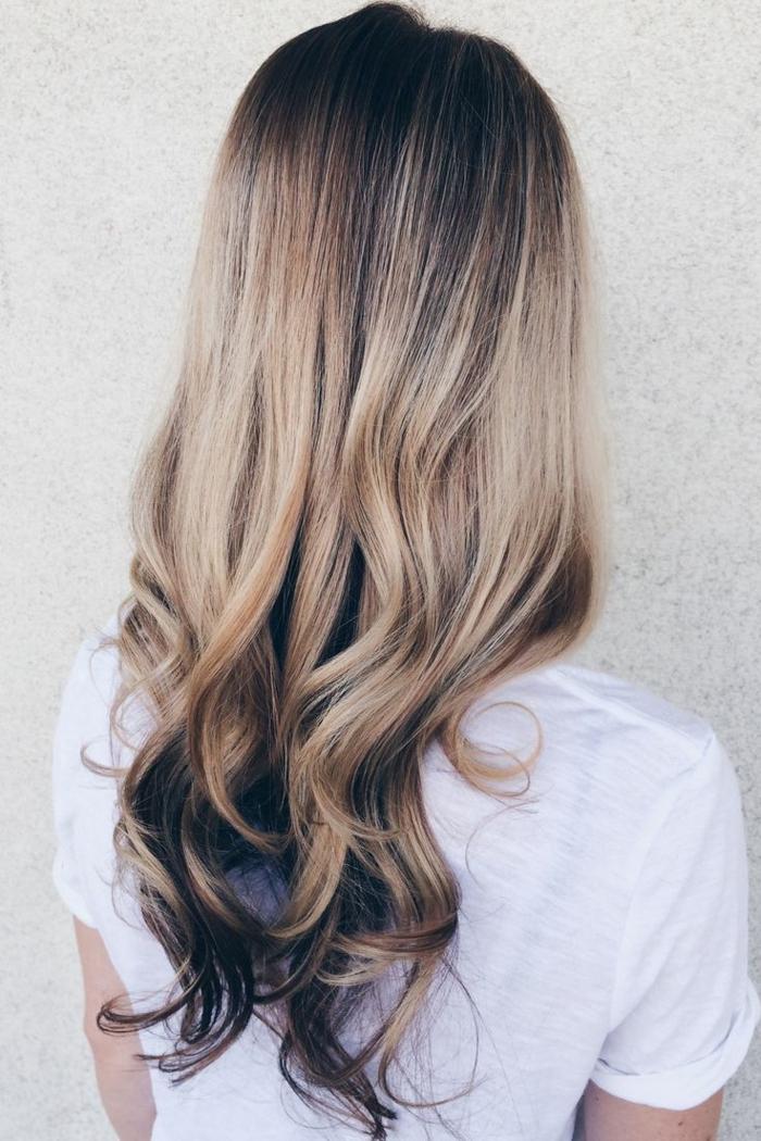 damenfrisuren blond ombre stil lifestyle