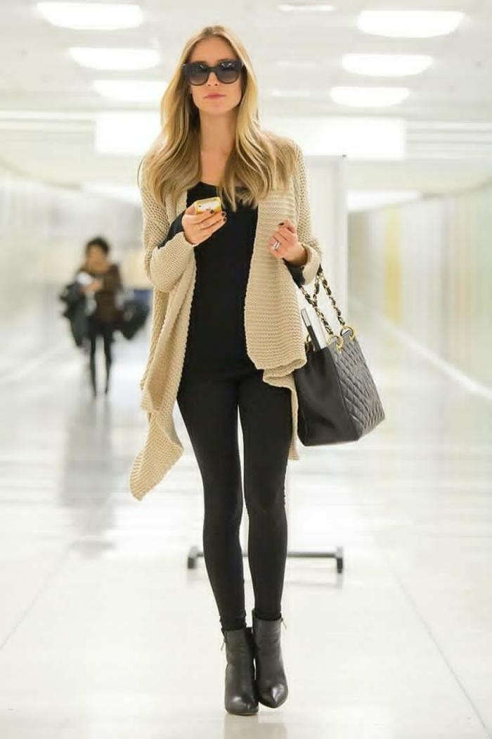 damenmode casual elegante trends fashion ledertasche schwarz