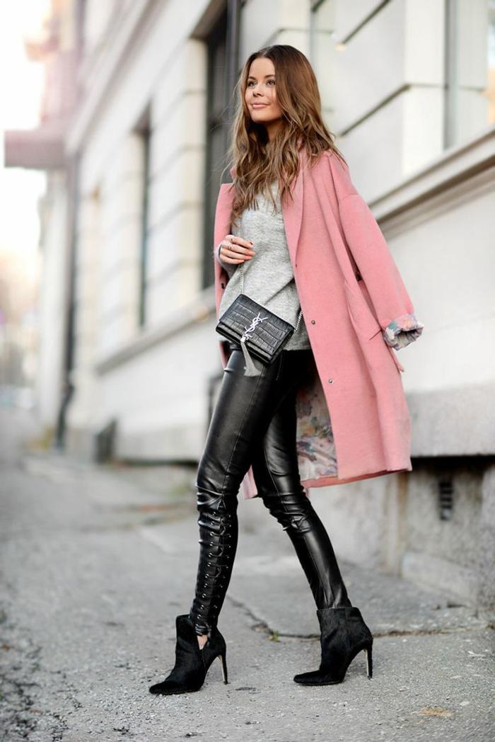 haengetasche damenmode casual lederhose kleine designer tasche louis vuitton rosa mantel