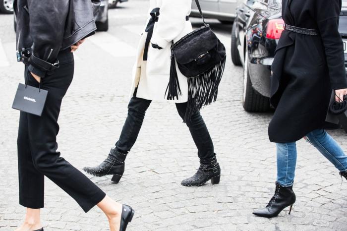 haengetasche damenmode casual velours kleine hängetasche fransen schwarz