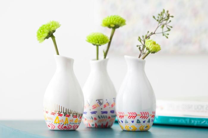 dekoideen frühling dekovasen frühlingsblumen