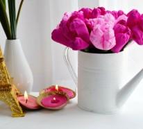 Dekoideen Frühling – 25 Wege, heitere Frühlingsstimmung zu Hause zu schaffen