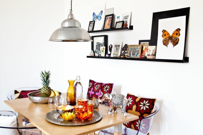 dekoideen frühling orientalische dekoration windlichter wasserlilien tischdeko
