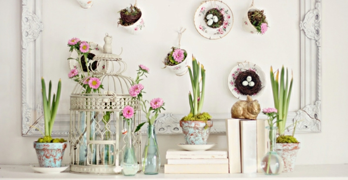 Dekoideen Frühling - 25 ways to create a cheerful spring atmosphere at home