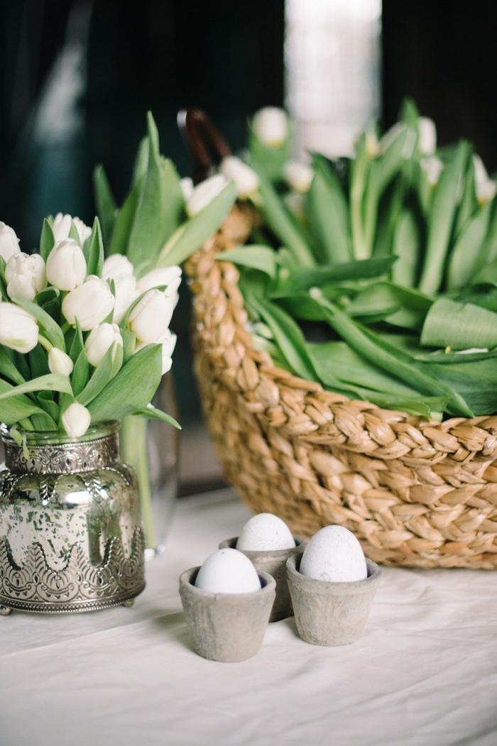 dekoideen ostern ostereier tulpen