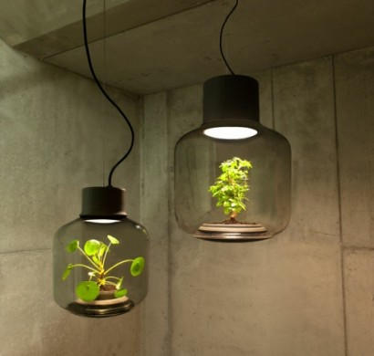 designerlampen zum verlieben vereinigen licht und pflanzen in einem. Black Bedroom Furniture Sets. Home Design Ideas