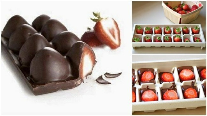 eiswürfelbehälter schokolade