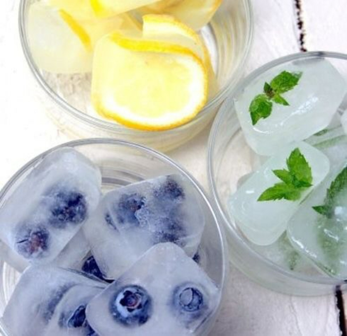 sommer rezepte eiswürfelbehälter würfel fruchtig